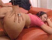 Deutsche Anfängerin beim Pornocasting